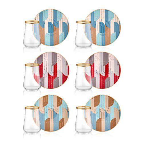 12 Pcs Leila Luxury Tea Glass Set