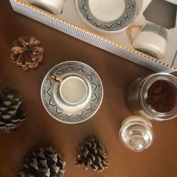12 Pcs Karaca Globe Luxury Porcelain Turkish Coffee Set