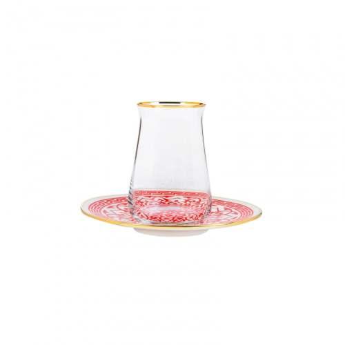 12 Pcs Karaca Ocha Luxury Tea Glass Set