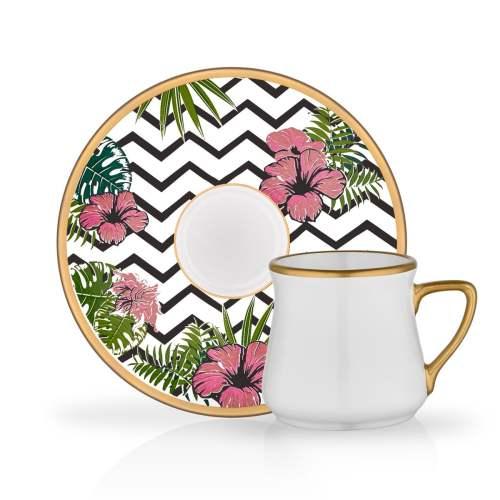 12 Pcs Cassandra Luxury Porcelain Turkish Coffee Set
