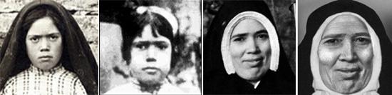 Progresión en las fotos de la Hermana Lucía I