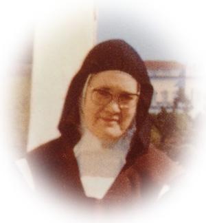 Rostro de la hermana Lucy 2 como se muestra en la postal