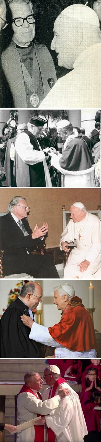 Papas conciliadores con protestantes