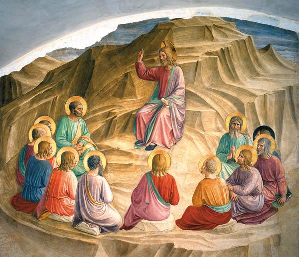 The Sermon on the Mount. Ca. 1440-1445. Fresco.