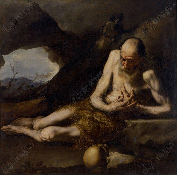 J.de Ribera, Der Einsiedler Paulus - J.de Ribera, The Hermit Paul - Ribera, Jusepe de, dit lo Spagnoletto ; 1591-1652. - 'Saint