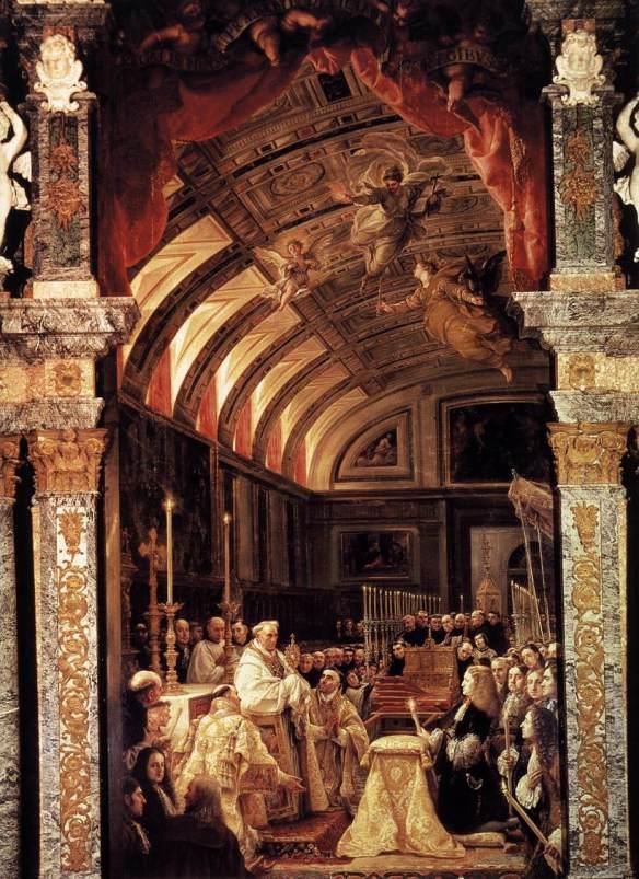 Cl.Coello.La_Sagrada_Forma.1685-90.Sacristy,_El_Escorial