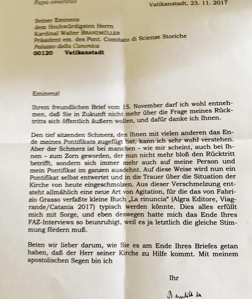 Benedikt Brief 2