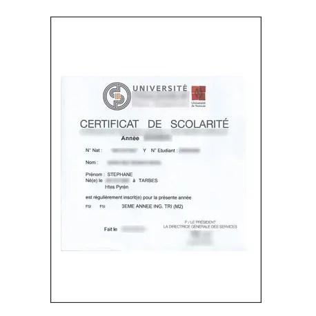 Traduction certificat ou certificat de scolarité