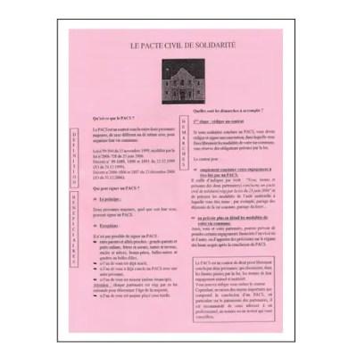 Traduction convention et certificat de PACS