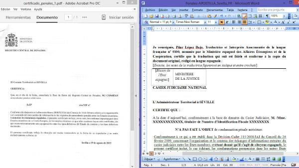 Realizar una traducción jurada