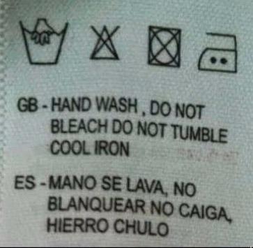 traduccion etiqueta ropa