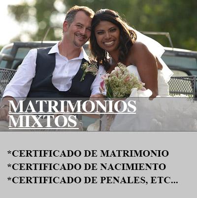 Documentación para matrimonios mixtos
