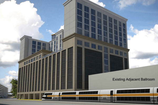 Tremont Realty Capital is proposing building a new hotel at Church Street Station, one that could include a new SunRail platform in downtown Orlando
