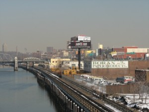 Harlem River waterfront to the north of the Madison Avenue Bridge