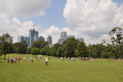 "[Midtown's ""backyard,"" Piedmont Park. Image via New Yatlanta.]"