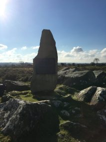Silhouetted standing stones
