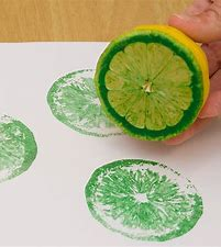 Painting with citrus fruits