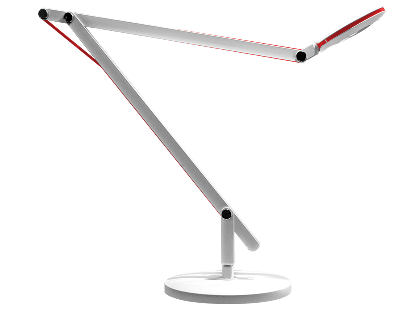 Kumi Desk Lamp In White Color With Led Lighting