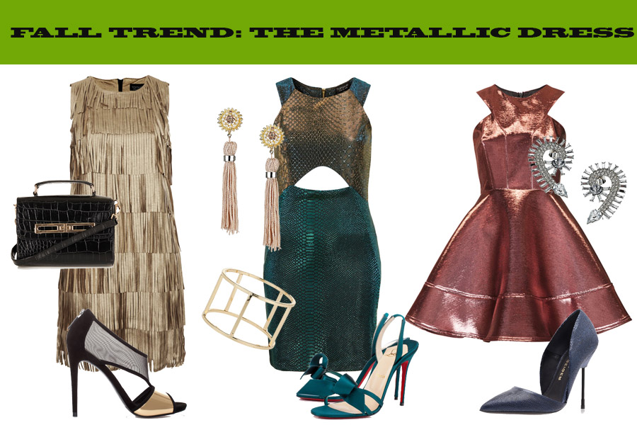METALLIC DRESS FALL 13