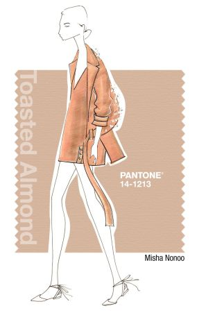 pantone toasted almond