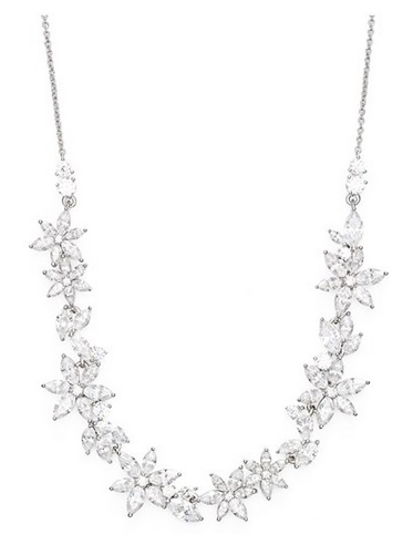 NADRI - FLORAL CRYSTAL FRONTAL NECKLACE