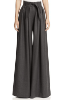 MARTIN GRANT - Belted Wool Wide-leg Trousers