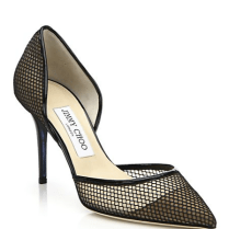 JIMMY CHOO - Addison Mesh & Patent Leather Pump