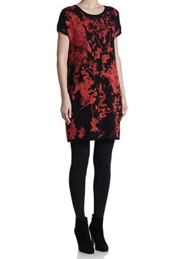 Diane Von Furstenberg Alix Printed Merino Wool Shift Dress