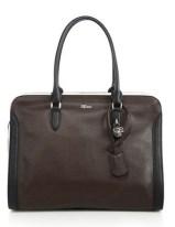 Alexander McQueen Padlock Large Two tone Leather Zip Satchel