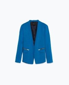 Blazer with zippers