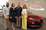 Bryan Cortés, Lourdes Roche, Ricardo Ramírez, Zaissi Miranda, representantes Nissan en Puerto Rico