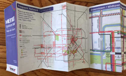 the new METRO System Map unfolded