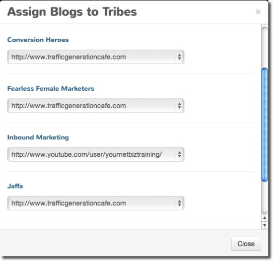 triberr assign tribes