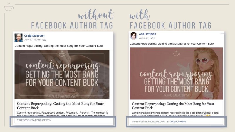 What FacebookAuthor Tag looks like