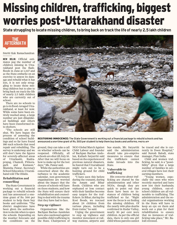 Missing Children Trafficking Biggest Worries Post