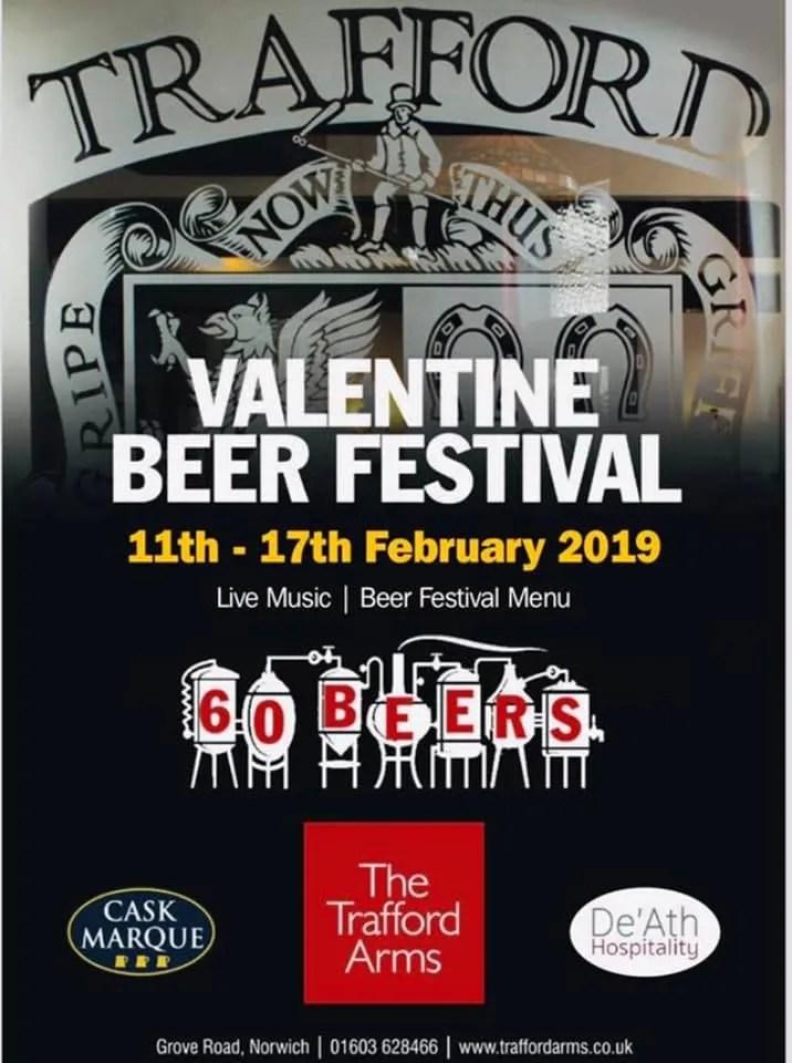 Trafford Valentines Beer Festival 2019.