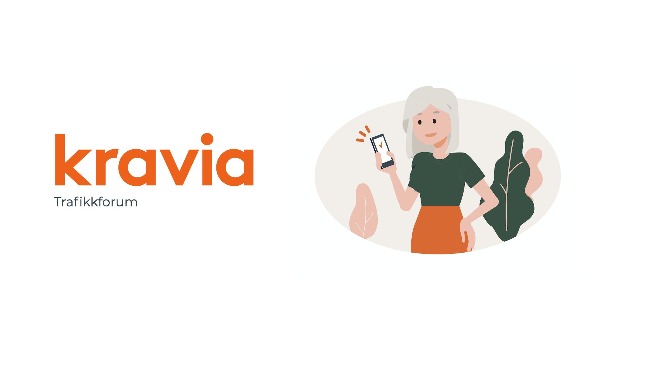 Skjermdump fra presentasjon Kravia og Trafikkforum
