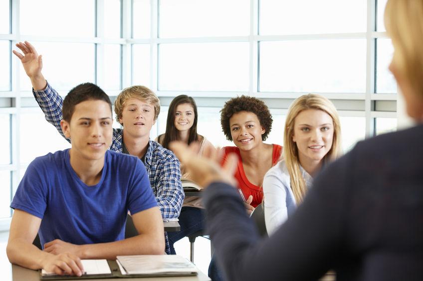 Elever i undervisningsrom