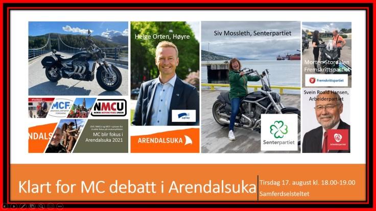 Motorsykkelpolitisk debatt i Arendalsuka
