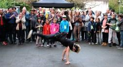 Vernissage mit der Tanzgruppe Shibak Sharqi (Tor zur Welt) aus Berlin. Foto: Sonja Steiner