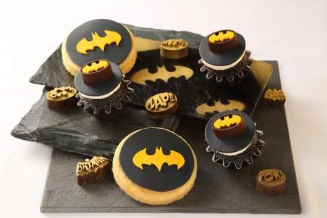 Batman Jumbo Cookies & Cupcake