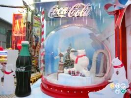 可樂攤位的主題景