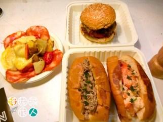 沙律+漢堡+豬肉包+龍蝦包