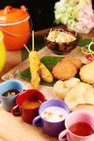 燒烤拼盤:雞、蝦、魚餅(澳門幣98元)