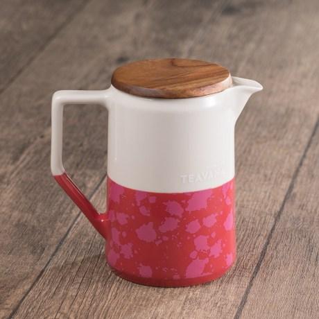 Teavana Two-Tone Dark Pink & White Teapot