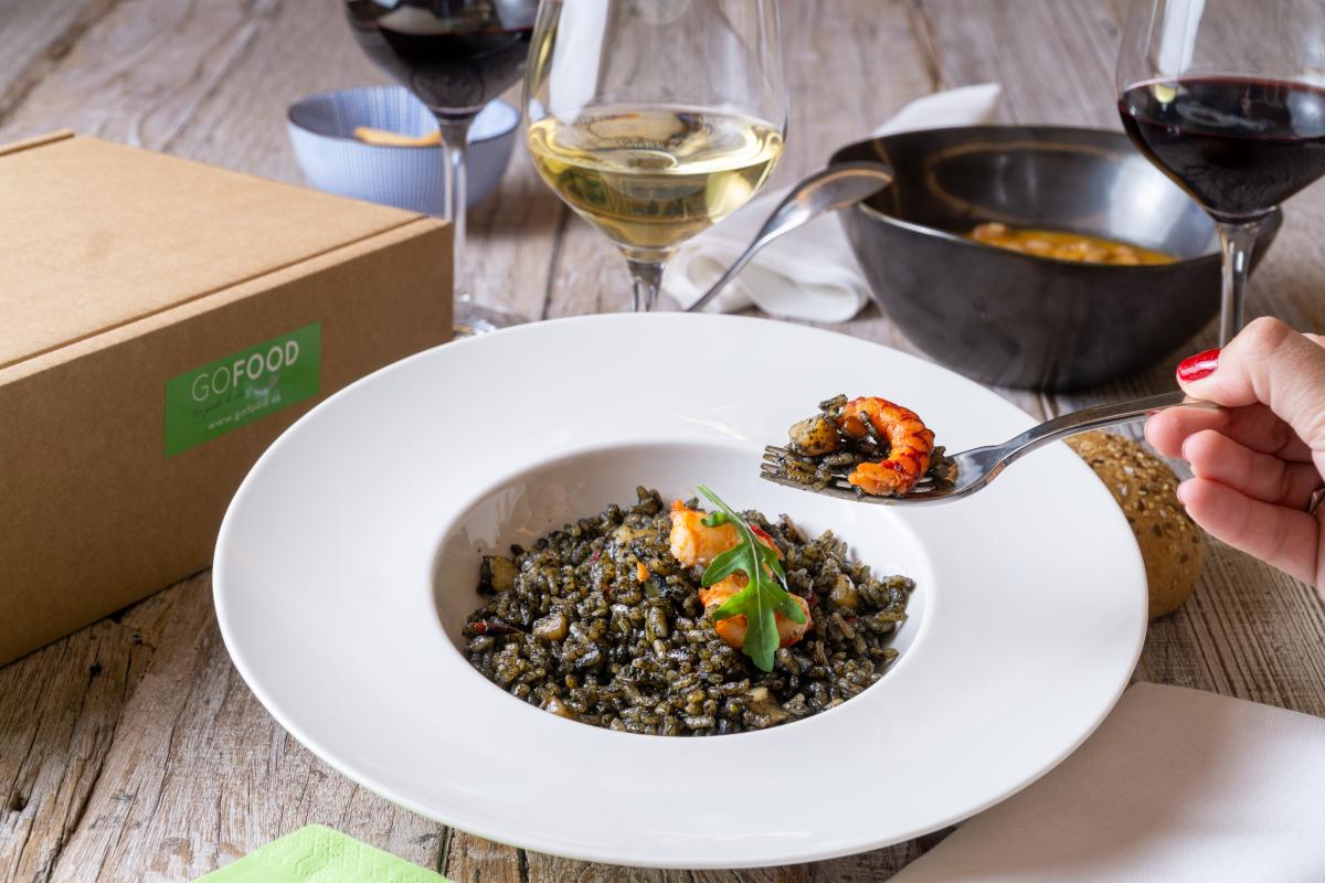 Comida saludable a domicilio: arroz negro