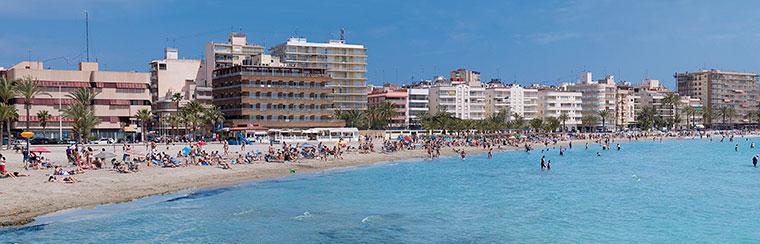 mejores playas Santa Pola: playa Levante