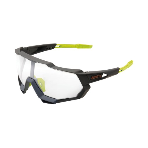 100% Speedtrap Brille soft tact cool grey