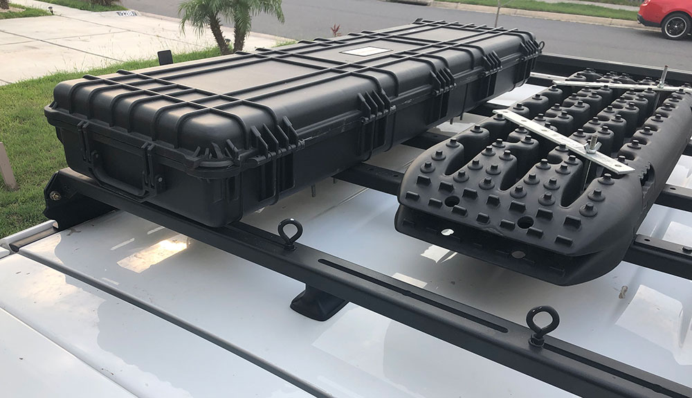 cargo box for recovery gear on roof rack