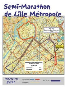 Carte du semi marathon de LIlle Métropole 2011